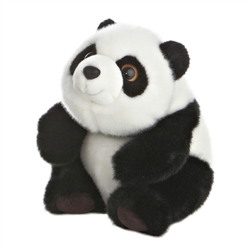 Sitting Lin Lin the Small Stuffed Panda Bear by Aurora