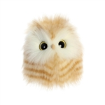 Adair the Little Designer Stuffed Yellow Owl Luxe Boutique by Aurora