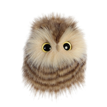 Aldora the Little Designer Stuffed Brown Owl Luxe Boutique by Aurora
