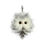 Adeyrn the Designer Clip On Stuffed Snowy Owl Luxe Boutique by Aurora