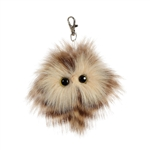 Aldora the Designer Clip On Stuffed Brown Owl Luxe Boutique by Aurora