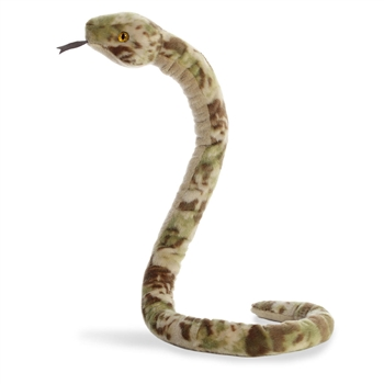 Grunge Camo Print Brown Snake Stuffed Animal by Aurora