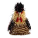 Jacques the Designer Stuffed Rooster Luxe Boutique Plush by Aurora