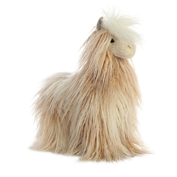 Lele the Designer Stuffed Llama Luxe Boutique Plush by Aurora