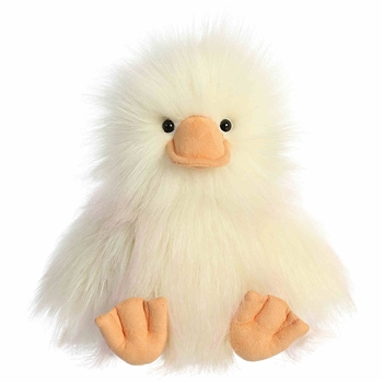 Quinn the Designer Stuffed Duck Luxe Boutique Plush by Aurora