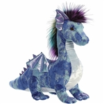 Zion the Blue Designer Stuffed Dragon Luxe Boutique Plush by Aurora