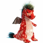 Zephyr the Red Designer Stuffed Dragon Luxe Boutique Plush by Aurora