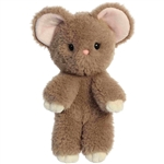 Stuffed Gray Mouse Minkies Plush by Aurora