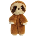 Stuffed Brown and Tan Sloth Minkies Plush by Aurora