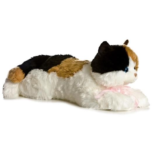 Jumbo Stuffed Calico Cat Super Flopsie By Aurora Stuffed Safari