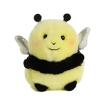 Happy the Bee Stuffed Animal Rolly Pet by Aurora