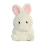 Bunbun the White Bunny Stuffed Animal Rolly Pet by Aurora