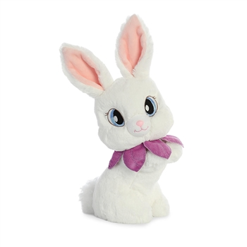 Pansy the Retro Stuffed White Bunny Vintage Plush by Aurora