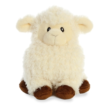 Chunky White Lamb Stuffed Animal by Aurora