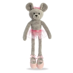 April the Ballerina Mouse Stuffed Animal by Aurora