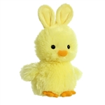Stuffed Yellow Chick with Bunny Ears by Aurora