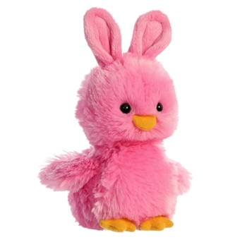 Stuffed Pink Chick with Bunny Ears by Aurora