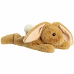 Stuffed Tan Bunny Schooshies Plush by Aurora