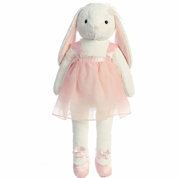 Big Jolene the Stuffed Bunny with Tutu by Aurora