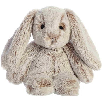 Small Gray Stuffed Bunny Paddle Plush by Aurora