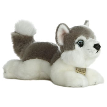 Realistic Stuffed Husky 8 Inch Plush Dog By Aurora