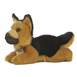 Realistic Stuffed German Shepherd 8 Inch Plush Dog By Aurora