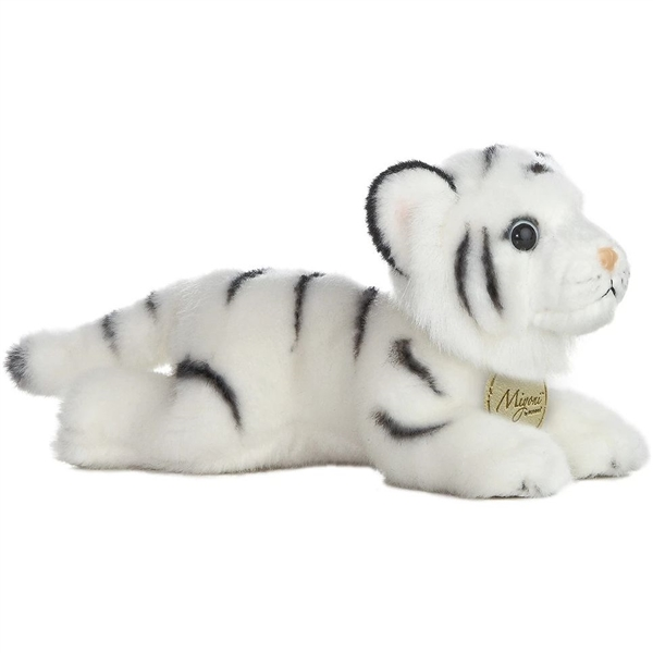 Realistic Stuffed White Tiger 8 Inch Plush Wild Cat By Aurora At