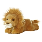 Realistic Stuffed Lion 8 Inch Plush Wild Cat By Aurora