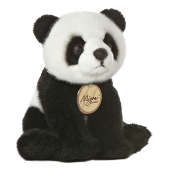 Realistic Stuffed Panda Bear 5 Inch Plush by Aurora