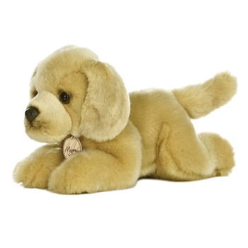 Realistic Stuffed Yellow Lab 11 Inch Plush Dog by Aurora