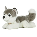 Realistic Stuffed Husky 11 Inch Plush Dog By Aurora
