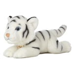 Realistic Stuffed White Tiger 11 Inch Plush Wild Cat By Aurora