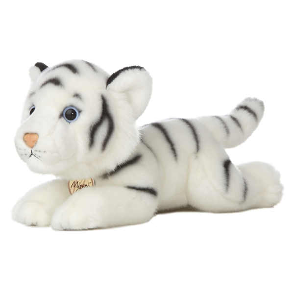 Realistic Stuffed White Tiger 11 Inch Plush Wild Cat By Aurora At