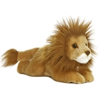 Realistic Stuffed Lion 11 Inch Plush Wild Cat By Aurora