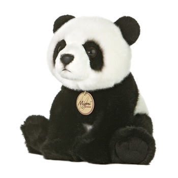 Realistic Stuffed Panda 7 Inch Sitting Miyoni Plush by Aurora