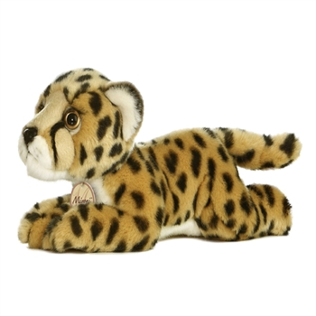 Realistic Stuffed Cheetah 11 Inch Plush Wild Cat By Aurora