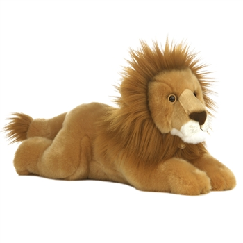 Realistic Stuffed Lion 16 Inch Plush Wild Cat By Aurora