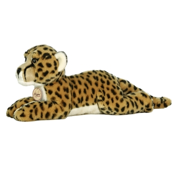 Realistic Stuffed Cheetah 16 Inch Plush Wild Cat By Aurora