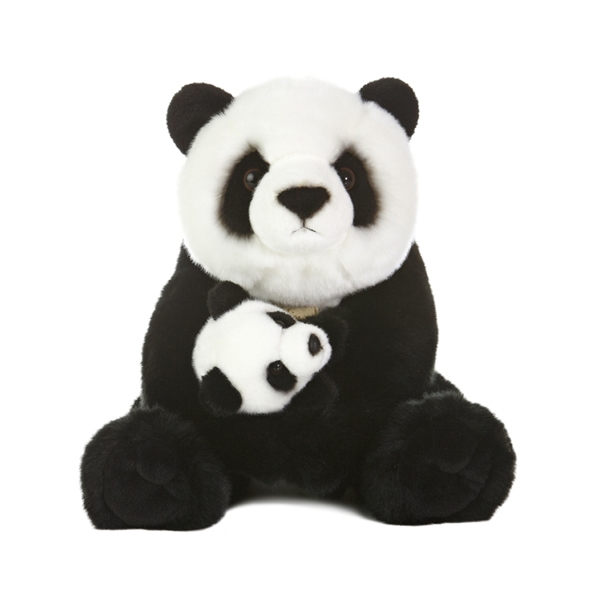 Realistic Stuffed Mother Panda Bear with Cub by Aurora at Stuffed Safari dcd2ca3eae69