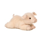 Realistic Stuffed Pig 8 Inch Plush Animal by Aurora