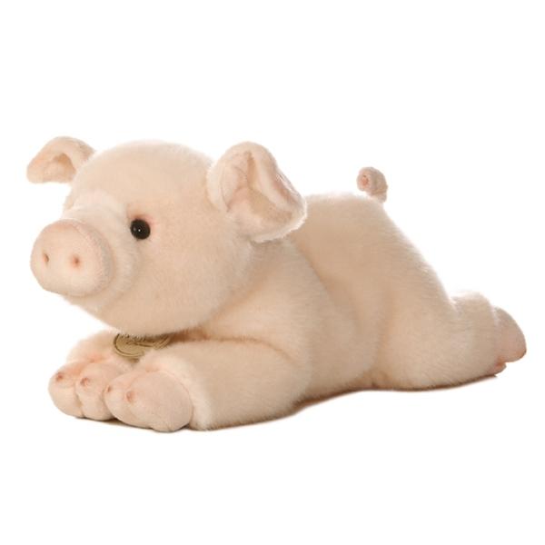 Realistic Stuffed Pig 11 Inch Plush Animal By Aurora At Stuffed Safari