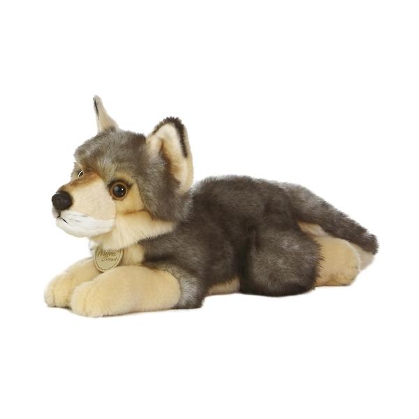 Realistic Stuffed Wolf 11 Inch Aurora Stuffed Safari
