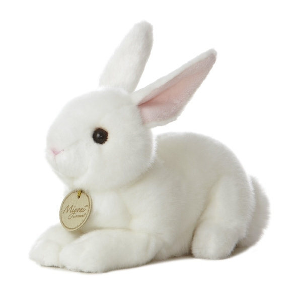 2e607d577675 Realistic Stuffed White Bunny 8 Inch Plush Animal by Aurora Find more  realistic Miyoni stuffed animals HERE! Larger Photo ...