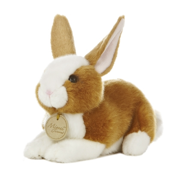 Realistic Stuffed Brown Bunny 8 Inch Plush Animal By Aurora At