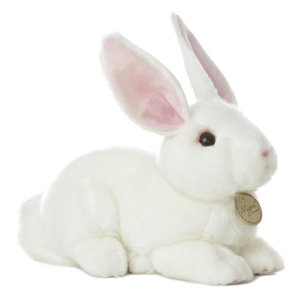 d850c2bf779 Realistic Stuffed White Rabbit 10 Inch Plush Animal by Aurora at ...