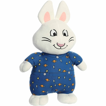 Max the Stuffed White Rabbit in Pajamas Max and Ruby Plush by Aurora
