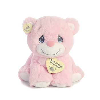Precious Moments Pink Charlie Bear Stuffed Animal by Aurora