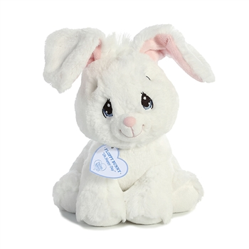Precious Moments White Floppy Bunny Stuffed Animal by Aurora