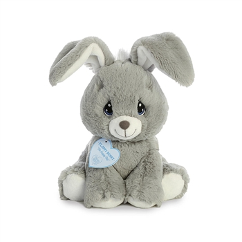 Precious Moments Gray Floppy Bunny Stuffed Animal by Aurora