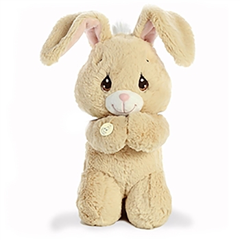 Precious Moments Tan Floppy Prayer Bunny Stuffed Animal by Aurora